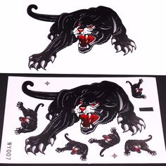 Motorcycle and Car Hoods Trunk Whole Body Animal Ferocious Panther Decal Personalized Car Sticker <3 Click the VISIT button to enter the website