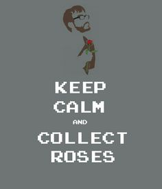Haha love this!! When in doubt collect roses lol #achievementhunter #brownman #roosterteeth #minecraft #Ray