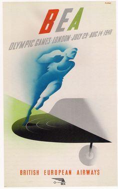 BEA - London, 1948 Olympics (Designer: Abram Games)