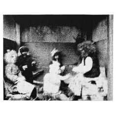 A black and white photo of a troll family family Photo Jigsaw Puzzle, Jigsaw Puzzles, Family Family, Troll, Black And White, Painting, Art, Art Background, Black N White