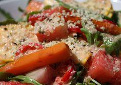 Paleo Plan, Tofu, Pasta Salad, Zucchini, Ethnic Recipes, Vegan Appetizers, Vegan Cake, Meat, Paleo Appetizers