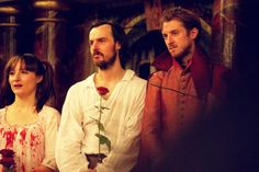 Arthur Darvill as Mephistopheles and Paul Hilton as Doctor Faustus at The Globe