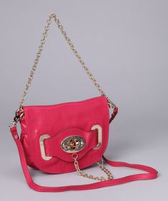 Take a look at this Fuchsia Turnkey & Chain Shoulder Bag by Adhesion, LLC on #zulily today!