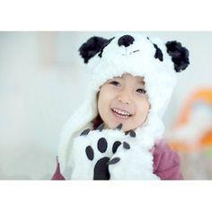 Free new cartoon panda shape the children hats scarves gloves, children cap,Velvet,white Winter Baby Clothes, Baby Winter, Winter Hats, Kids Hats, Children Hats, Cute Fashion, Kids Fashion, Cartoon Panda, Baby Swag