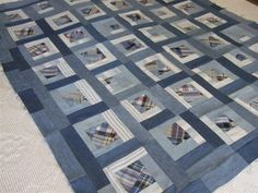 Blue Giant denim quilt pattern from upcycled jeans | Denim quilt ... : free denim quilt patterns - Adamdwight.com