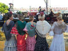 #Flamencas por el Real de la Feria de de Sevilla