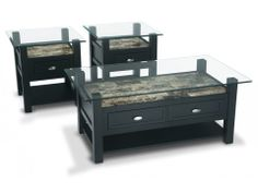 Zoey Coffee Table Set Bobs Transitional coffee tables and