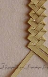 Tuto tresse fantaisie Flax Weaving, Straw Weaving, Inkle Weaving, Willow Weaving, Basket Weaving, Leaf Crafts, Decor Crafts, Corn Dolly, Flax Flowers