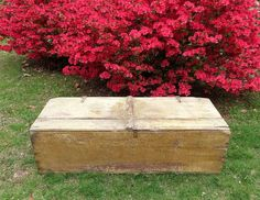 Primitive Blanket Chest / Yellow Blanket Chest / Yellow