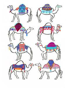 Camel Couture Print by CactusClub on Etsy