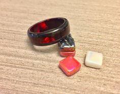 The purple option ;) Black Tulip Wood and Pearlescent Red Epoxy Core/Inlay Bentwood Ring, Wood Engagement Ring, Wood Ring for Men, Wood Ring for Women