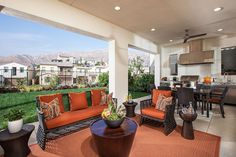 Camellia at Rosedale - new homes Azusa - plan 2 patio