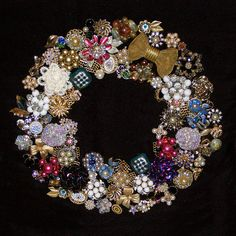 Fabulous use for vintage jewelry or grandma's old stuff.