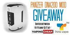 Win a Panzer DNA200 Box Mod from Thank Vape at http://VapingCheap.com