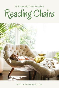 18 comfy reading chairs perfect for a corner in your bedroom or an office. These cozy reading chairs are guaranteed to create a perfect reading nook. #readingchair #booknook #readingnook #comfychair #libraryenvy