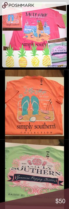 NWT Simply Southern XLarge 3 Shirts New With Tags, Short Sleeve Size  XLarge. Simply Southern Tops Tees   Short Sleeve | My Posh Closet |  Pinterest | Simply ...