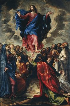 """He has gone into heaven and is at the right hand of God, with angels, authorities, and powers subject to him."" 1 Peter 3:22 // Ascension // 1651 // Francisco Camilo // © Museu Nacional d'Art de Catalunya // #Jesus #Christ #Cristo"