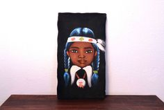 Vintage Velvet Painting of Native American Girl  / by MidMod