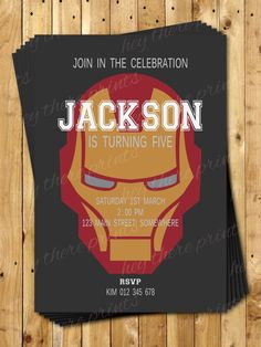 Ironman Birthday Invitations The Avengers by HeyTherePrints, $13.00 Ironman Birthday, 4th Birthday, Birthday Parties, Iron Man Theme, Iron Man Party, Ironman Cake, Party Themes, Party Ideas, Ideas Para Fiestas