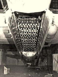 """During WW2 the Russian Army was using the so called """"Fire Hedgehog"""". A contraption of 88 Tommy-gun like machine guns loaded into the bay of one aircraft. It was used at low attitude to """"rain lead"""" upon enemy soldiers. War & creativity..."""