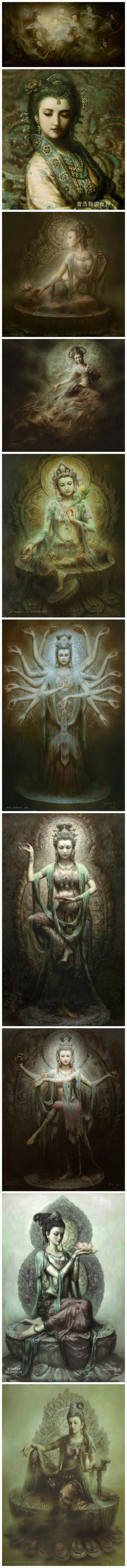 The breathtaking beauty of the many faces of our Master of Light ✨Quan Yin✨ she symbolizes Love, Mercy, Compassion, Peace, Courage and much more...