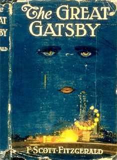 "This is the cover of the popular novel in the 1920's, The Great Gatsby. It was written by F. Scott Fitzgerald. The story describes the frivolous spending of the wealthy during the ""roaring twenties"". It also raises the question of what kind of an impact you have on the world. This is my favorite novel because it makes you think and look back on your life and actions."