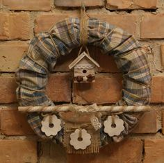 Wianek,ozdoba świąteczna. Ręcznie wykonany, Ręcznie wykonane przez Suzi Handmade w kategorii Rękodzieło/Wyroby z drewna. W mieście Choszczno, Polska