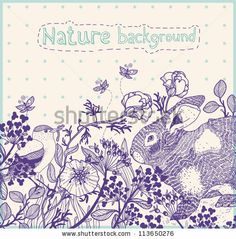 hand drawn vector nature background by Anna Paff, via ShutterStock
