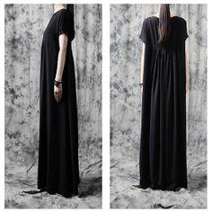 Silk Cotton Dress/ Lady Long Dress/ Maxi Dress/Plus by ladymickey, $82.00