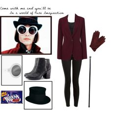 """Willy Wonka Costume"" by catsian on Polyvore"