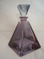 Amethyst Glass Purple Perfume Art Deco #vintage #scent #bottle