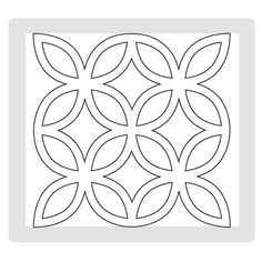 stencil - use design for zentangle quilt