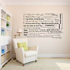Famous Classic Cinema Entertainment Movie Quote Collection - Wall Decal Custom Vinyl Art Stickers on Etsy, $30.00