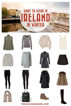 Planning a trip to Ireland in the Winter? Use this packing list to help you pack light for your trip. Click here for a comprehensive packing list for Ireland in Winter. | TravelFashionGirl.com