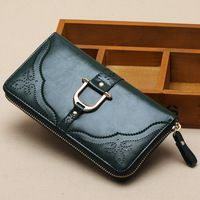 2014 women's wallet female long design cowhide Women clip wallet 517