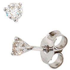 Damen-Stecker 2 Diamant-Brillanten 14 Karat (585) Weißgold 0.25 ct. Dreambase http://www.amazon.de/dp/B00ANOTPCM/?m=A37R2BYHN7XPNV