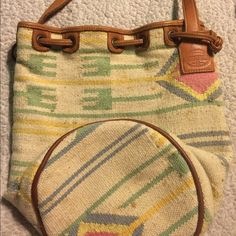Fossil Bucket bag! Large super cute Fossil bucket bag! Inside is in perfect condition, as well as the straps! There are some marks/stains on the bag from wear! Super cute, still has lot of life left! :-) Fossil Bags