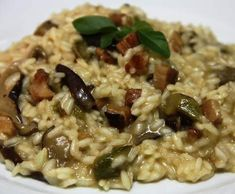Receita Risotto de Cogumelos e Bacon por Mário Machado - Categoria da receita Pratos principais Carne