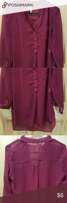 Joyce Leslie sheer red top Item: red sheer top Brand: Joyce Leslie  Size: M  Condition: very good Joyce Leslie Tops Blouses