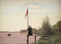 Christen Købke (1810-48), 'A View from Dosseringen near the Sortedam Lake Looking Towards Nørrebro', 1838. KMS359