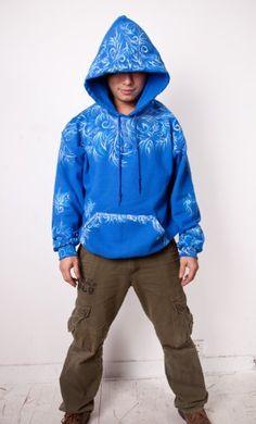 Jack Frost Hoodie Cosplay Costume Hooded Sweatshirt Rise of the Guardians S
