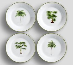 Palm tree plates - Pottery Barn