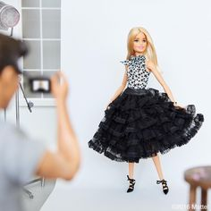 A little peek behind the lens, it takes teamwork to get the final shot! 📷 #barbie #barbiestyle