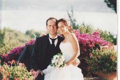 In the courtyard of the hotel. Me and Daniele. 2006. (Alghero, Sardinia)
