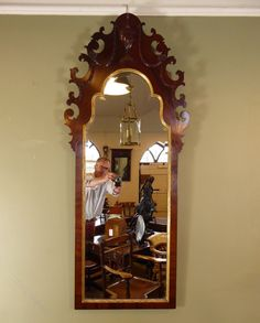 Antiques Atlas - Large 19th C Mahogany Pier Mirror