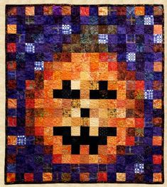 The tenth pattern in a monthly series designed to use up scraps. Decorate for Halloween in October with this Pumpkin made from squares. Butterfly Quilt Pattern, Heart Quilt Pattern, Wallet Pattern, Halloween Quilts, Halloween Quilt Patterns, Pumpkin Quilt Pattern, Snowman Quilt, Table Runner Pattern, Quilted Wall Hangings