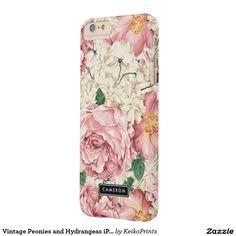 Vintage Peonies and Hydrangeas iPhone 6 Plus Case