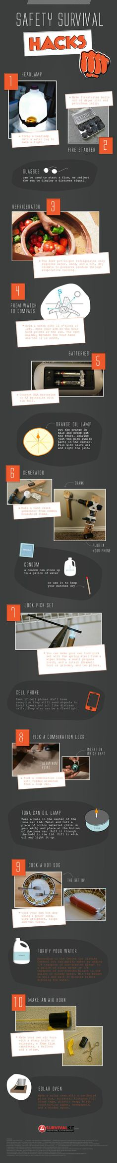 The Preppers List of Safety Survival Hacks [Infographic]