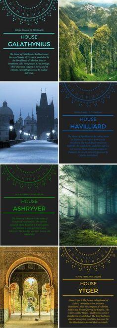 Throne of Glass Royal Houses ©aly-naith.tumblr.com