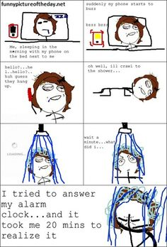 Answering Phone While Sleeping Funny Meme Comic
